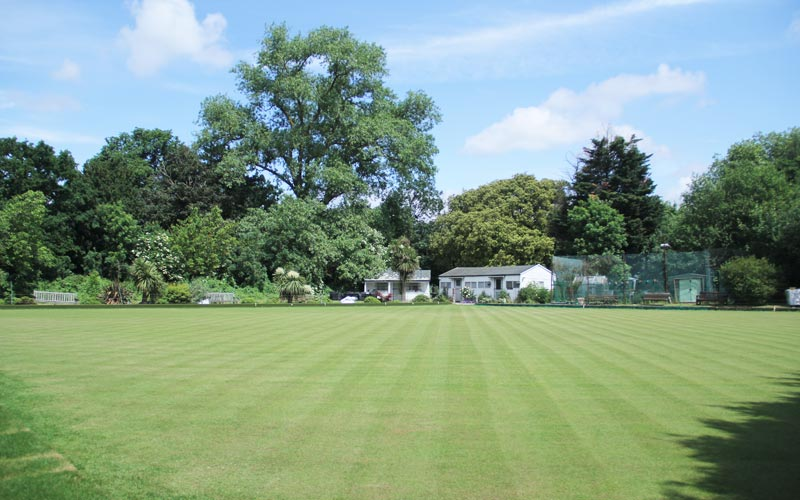 Photo image of the bowling green at Southwark Sports bowls club