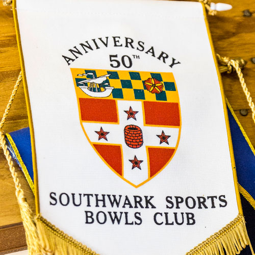 Photo image of Southwark Sports 50th Anniversary rosette